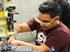 A LAVC Advanced Manufacturing Student in action