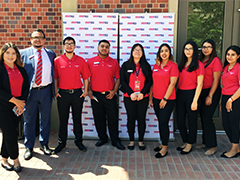 Bank of America interns at the USC University Village grand opening event on August 17, 2017