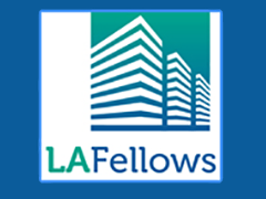 "LA Fellows logo, ""Career Growth Through Specialized Training and Volunteerism"""