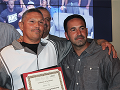 LATTC celebrated 25 re-entry graduates from its construction apprenticeship program