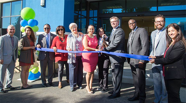 Councilwoman Nury Martinez (District 6), EWDD General Manager Jan Perry and other celebrants attended the ribbon cutting at the South Valley YouthSource Center Grand Opening on October 26, 2017