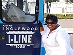 The Vernon-Central/LATTC WSC helped Regina Buckley secure a job as a bus driver for the City of Inglewood