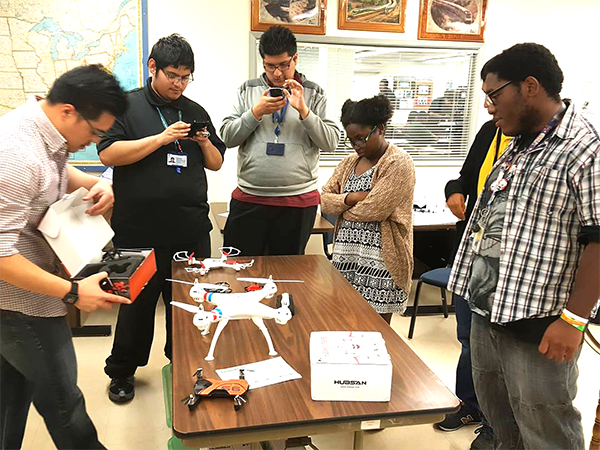 Boyle Heights Tech Youth Center Students Complete Drone Pilot Training