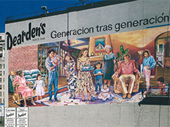 The iconic DTLA mural for Dearden's, an historic LA department store