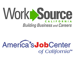 EWDD's WorkSource Centers and America's Job Centers of California logos