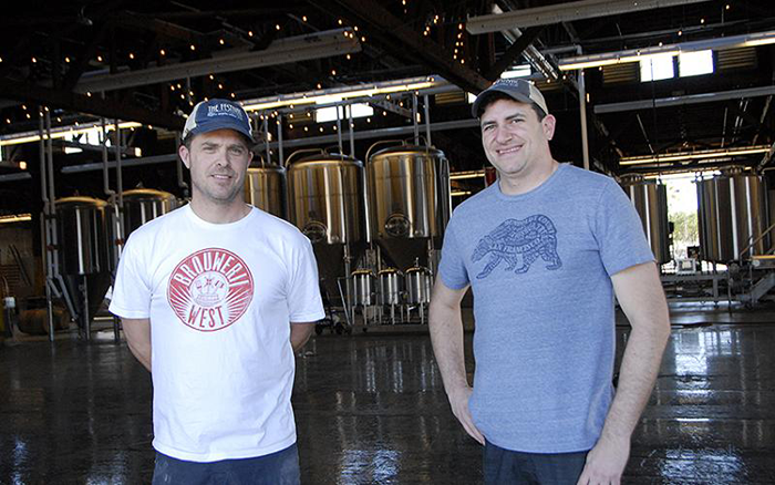 Brouwerij West founders Brian Mercer and Dave Holop have received long-term help from the Harbor BusinessSource Center (photo by Jolie Myers, courtesy of LA Magazine lamag.com)