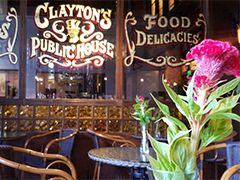 Clayton's Public House main window