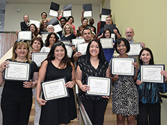 30 graduates from the 2018 Human Resource Assistant Academy at LA Valley College pose with their completion certificates