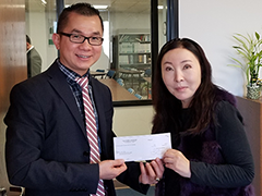 Central West Region Business Loan Counselor Phuong Le (left) helped Jean Kwon (right), owner and operator of the JK Law Firm obtain a $100,000 SBA loan