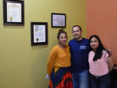 Jesus Rodriguez, owner of VIP Collision in San Fernando Valley with his family