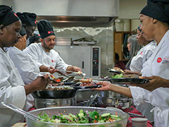 LAHTA Culinary Apprenticeship students prepare a gourmet lunch buffet