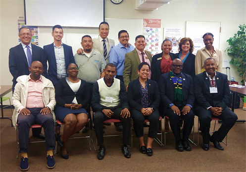 A delegation from African recently visited the Vernon-Central/LATTC WorkSource Center to discuss best practices on serving disconnected youth and delivering workforce services
