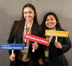PLN students Angeline Moran (left) and Alexa Flores (right) at the UnidosUS Leadership Summit in Washington, DC