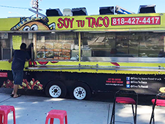 Teresa Arreola's food catering truck business, Soy Tu Taco