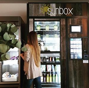 A Sunbox kiosk at the Honest Company headquarters