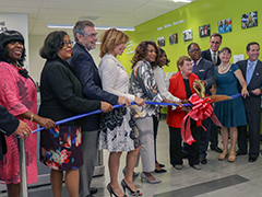 EWDD General Manager Jan Perry (third from left) at the ribbon cutting for the West LA WorkSource Center