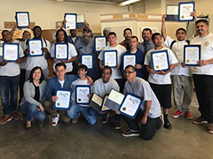 Boyle Heights Technology YouthSource Center participants graduated from a Weatherization Training Program on April 18, 2018. The Program was part of the Compass Rose Collective (CRC) Program.