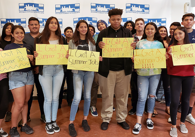 Boyle Heights Technology YouthSource Center welcomes 80 Hire LA's Youth 2019 summer interns