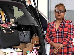 "Milvia Henriquez (pictured) received a $2K mini microloan to expand ""Milvia's Variedades"", her mobile retail store"