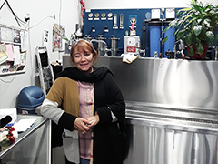 Maria Martinez at her business in Panorama City, Pura Agua Lupita, a purified water retail store