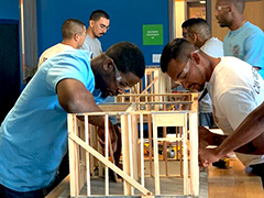 participants of the Compass Rose Collaborative (CRC) September 2019 Cohort participating in construction training