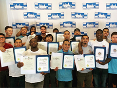June 11, 2019 graduates of the Compass Rose Collaborative Labor Ready Apprentice Certificate training program