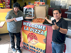 Harry's LA Pizza business partners Carlos Flores and Anacleto Barrientos Gonzales launch their North Hills restaurant