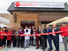 The new Koreatown LAHTA Culinary Training Facility ribbon cutting ceremony