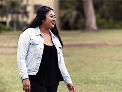 LA:RISE participant Lupe overcame homelessness, obtained stable employment and is now a full-time college student