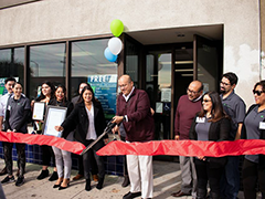 Initiating Change in our Neighborhoods (ICON) operates the new North Valley BusinessSource Center in Pacoima, pictured here with staff at the center's ribbon cutting on Friday, December 6, 2019