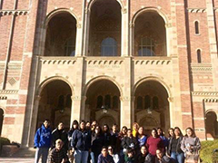 Para Los Niños YouthSource participants on a tour of the University of California, Los Angeles campus while attending the 2019 Raza Youth Conference