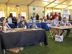 Resource fair vendors and job seekers at Transcend, the first ever South LA Transgender Job Fair, held March 13, 2019 in partnership with the Vernon-Central/LATTC WorkSource