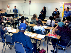 34 students took part in the inaugural two-week security training course at the Los Angeles Technology Center, provided by a partnership between West Adams WorkSource and the LAUSD DACE
