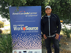 J Trinidad Vega (pictured) recently started a job at LA's Department of Public Works through the City's Targeted Local Hire Program