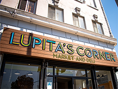 the exterior of recently remodeled Lupita's Corner Market in Westlake Park