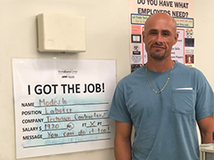 re-entry job seeker Modesto received training through the Vernon-Central/LATTC WorkSource and become a skilled laborer