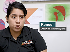 Renee, a Los Angeles Reconnections Career Academy (LARCA 2.0)benefit recipient