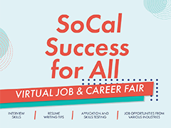 So Cal Success for All Virtual Job Fair social media post