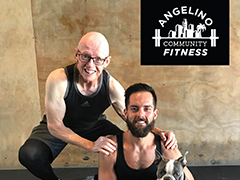 Angelino Community Fitness owners Karlos Ramirez and John Thyne