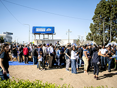 "Saturday February 29, 2020 groundbreaking ceremony for Destination Crenshaw, an open-air museum dedicated to celebrating the past, present, and future of Crenshaw, a South LA neighborhood referred to as LA's ""heart of African-American commerce"""