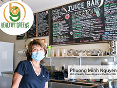 Phuong Minh Nguyen owner of Healthy Greens Organics