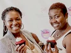(left to right) Catarah Coleman and Shoneji Robison, owners of Southern Girl Desserts