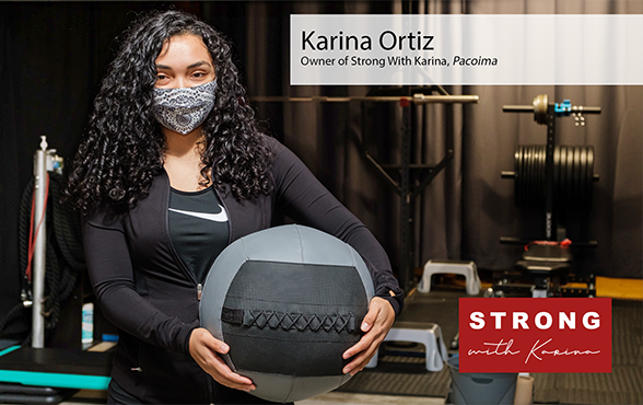 Karina Ortiz, owner of North SF Valley personal training business Strong with Karina