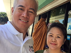 Nattawat and Suey Kiattisak, owners of Flavors of Thai Restaurant
