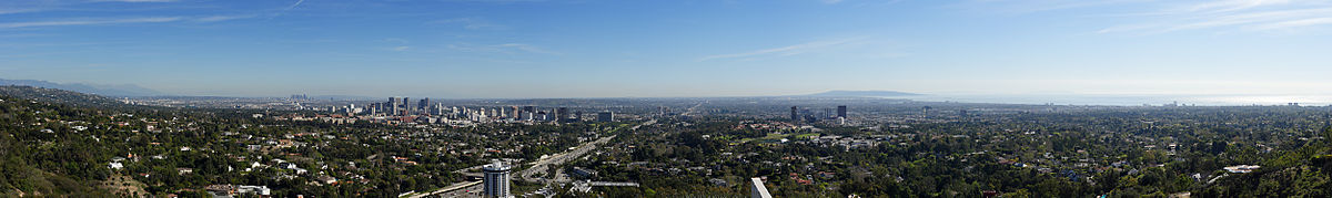 Panaramic View of Downtown Los Angeles