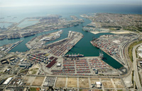 aerial picture of the Port of Los Angeles