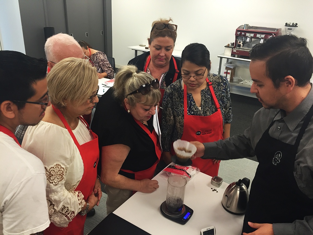 Barista Job Training Program, provided by Los Angeles Hospitality Training Academy (LAHTA)