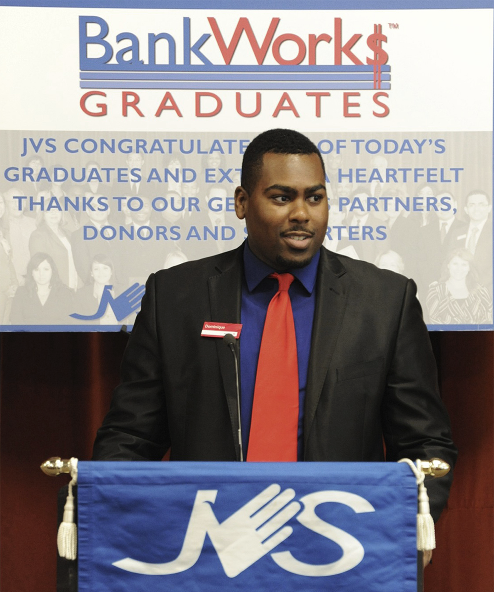 JVS BankWork$ financial training program graduate
