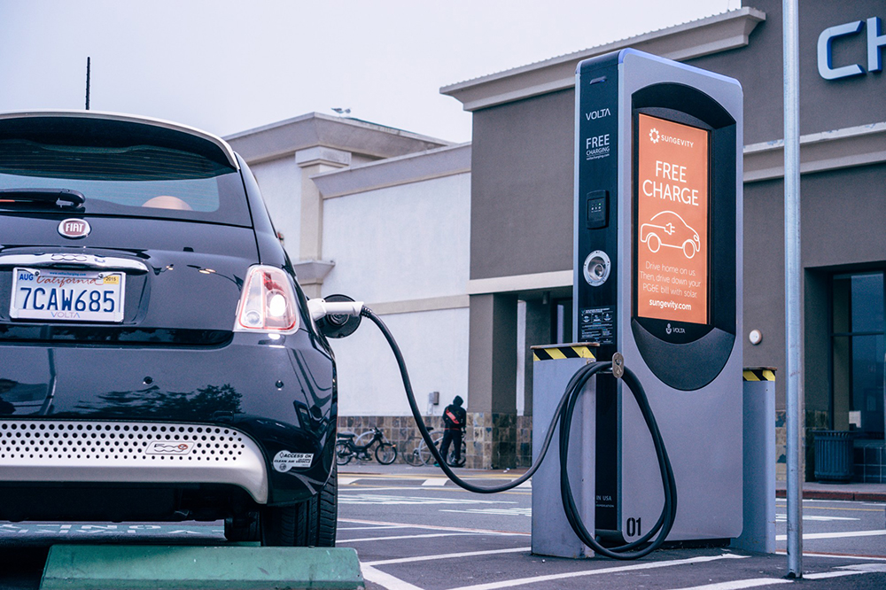 EV Charging Station in Los Angeles; courtesy of Forbes