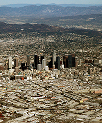 aerial picture of the Los Angeles Basin